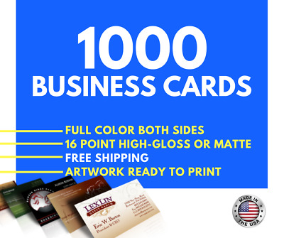 1000 Full Color BUSINESS CARDS - Best Price!