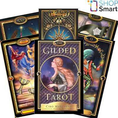 The Gilded Tarot Cards Deck And Book Set Esoteric Ciro Marchetti Llewellyn New