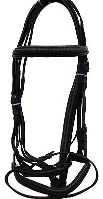 New Leather Horse Bridle with Reins Global Bridle