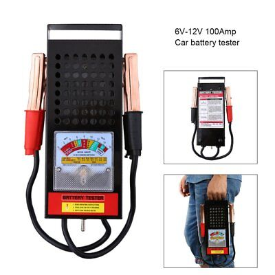 6/12V 100Amp Battery Load Tester Alligator Clip Heavy Duty Car Truck Checker HP