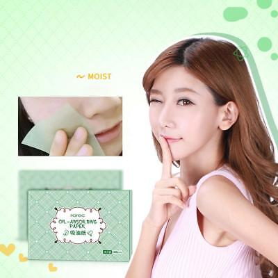 100 Skin Oil Control Sheets Absorbing Tissue Face Care Blotting Paper Green YO
