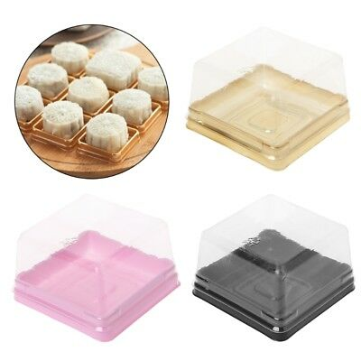 80g Square Moon Cake Trays Mooncake Packaging Box Container Holder 50 Sets