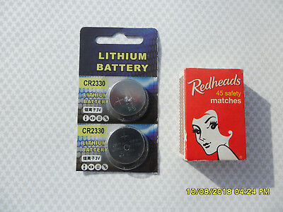 2 X Cr2330 3V Lithium  Expiry 12/2025 Batteries Battery Button Coin Cell