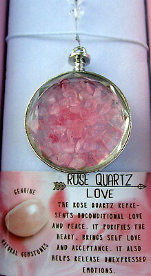 Suncatcher With Rose Quartz Crystals For Unconditional Love & Peace Gift Boxed