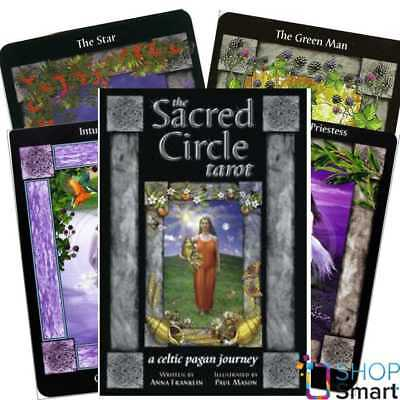 Sacred Circle Tarot Cards Deck Esoteric Telling Anna Franklin Llewellyn New
