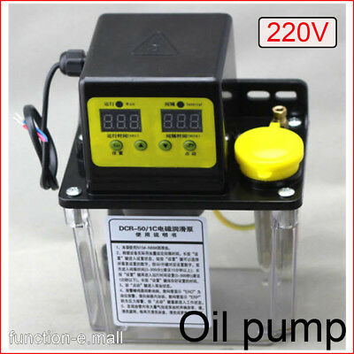 220V 1L Dual Digital Display Automatic Electric Lubrication Pump Oiler 1.0Mpa