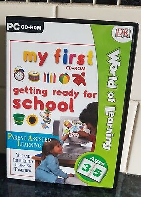 """DK (Pre-School Learning PC-CD Rom) """"Getting Ready for School"""" Great Condition."""
