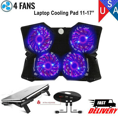 "Laptop Cooling Pad Cooler Stand Coolpad Fan Mat External 14"" 15.6"" 17"" Notebook"