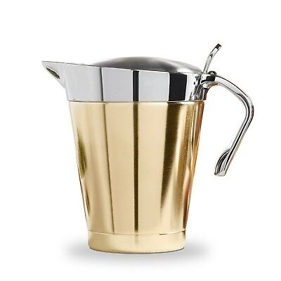 VonShef 500ML 1L Brushed Gold Gravy Boat Jug Sauce Double Insulated Pourer