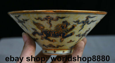 """6.4"""" Chenghua Marked Antique Old Chinese Doucai Porcelain Dynasty Lion Dog Bowl"""