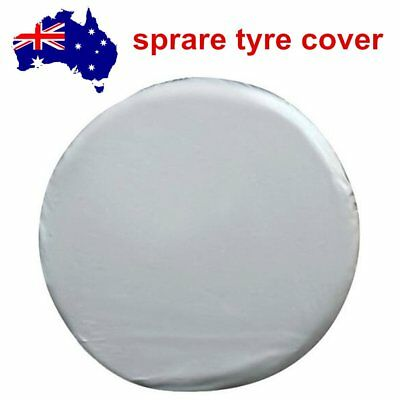 """16"""" inch Silver Spare Tire Cover Wheel Tyre Covers for all Diameter 76-79cm PVC"""