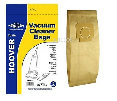 5 x Vacuum Cleaner Dust Paper Bags For Hoover Turbopower 2 & 3 H4 H18 Type