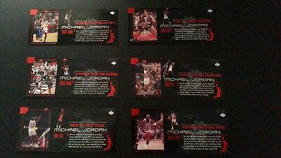 1999 Upper Deck Michael Jordan Career - Box Set Jumbo 6 cards