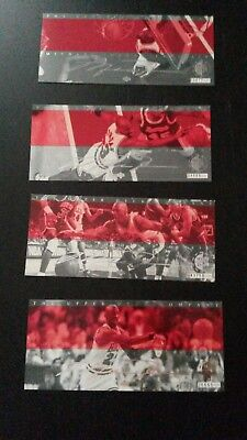 "Michael Jordan Rare Air Box Set Bonus Jumbo Card 3""x8"" Serial #/30000  4 cards"