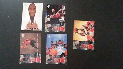 MICHAEL JORDAN RARE AIR JUMBO INSERT CARD set 1994 UPPER DECK 5 cards