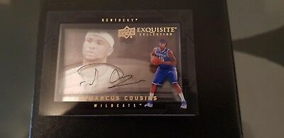 2011 Exquisite basketball DEMARCUS COUSINS - Shadowbox - Kentucky  2 AUTO SIGNED