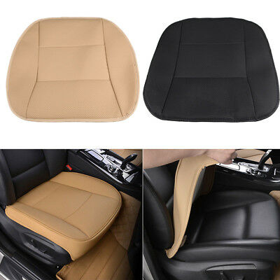 PU Leather Deluxe Car Cover Seat Protector Cushion Black Front Cover Universal A