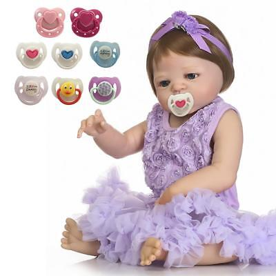 8 Colors Magnetic Pacifier Soother Dummy For Reborn Baby Dolls Internal Magnet