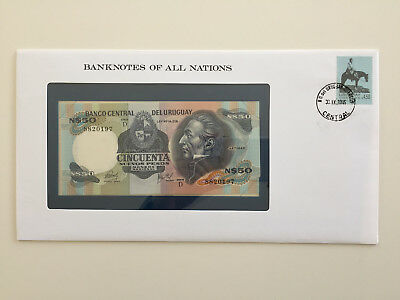 Banknotes of All Nations - Uraguay 50 pesos UNC