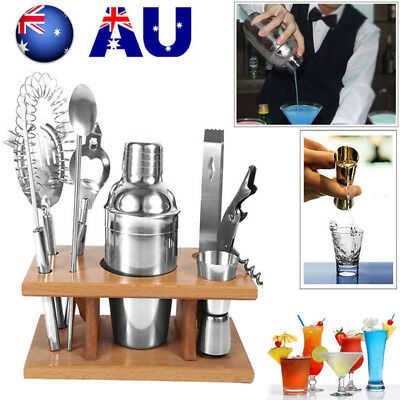 13Pcs Stainless Steel Cocktail Shaker Sets Bar Drink Mixer Bartender Accessories