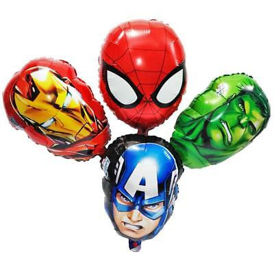 Marvel Avengers Hulk Iron Man Captain 4 Balloons Cartoon helium party birthday