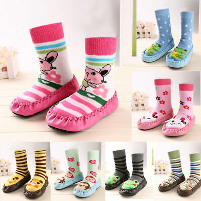 Baby Toddler Kids Cartoon Anti-slip Sock Shoes Boots Slipper Socks 6-36 Months