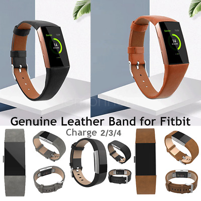 Genuine Leather Wrist Band Strap Watch Replacement For Fitbit Charge 2 AU Seller