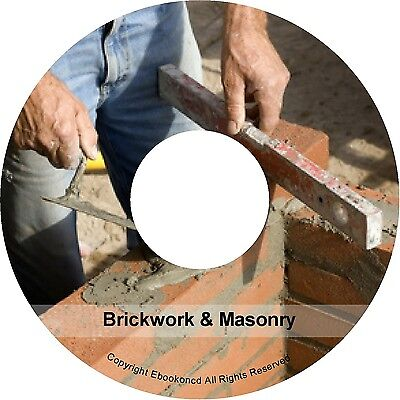 Stone Masonry Cutting Bricklaying Marble Concrete Plastering Building Books CD