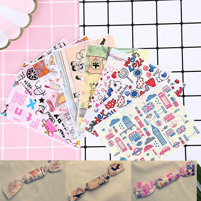 100pcs cartoon print diy waterproof dry wax papers food candy wrapping tis Ea