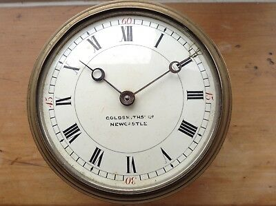 Old brass Clock Goldsmiths Newcastle Spares/Repairs