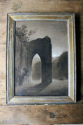 Antique Watercolour Study of a Gothic Ruined Abbey c.1900