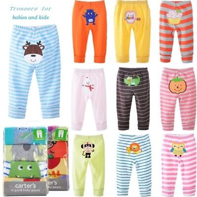 New Baby Boy Girl Infant Cotton Baby PP Pants Trousers