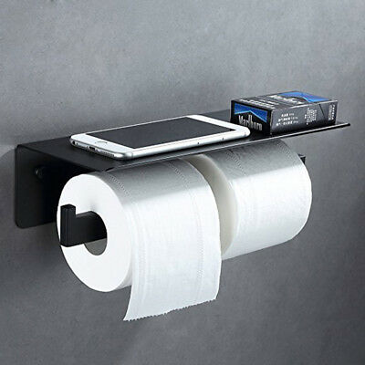 APL Double Toilet Paper Holder SUS304 Stainless Steel Bathroom Paper Tissue Hold