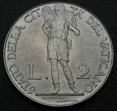 VATICAN 2 Lire 1941/III - Stainless Steel - Pius XII. - VF/XF - 2161