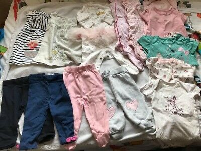 Lovely bundle girls NEXT ZARA Tui 0-3 3-6months in very good condition 13 items!
