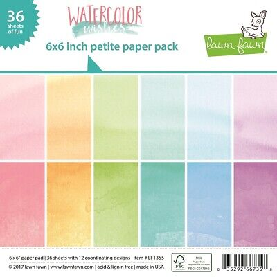 Lawn Fawn Petite Paper Pack 6x6 Watercolor Wishes LF1355