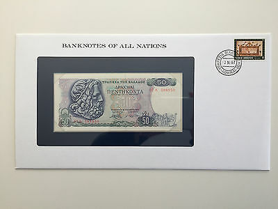 Banknotes of All Nations – Greece 50 Drachmai UNC