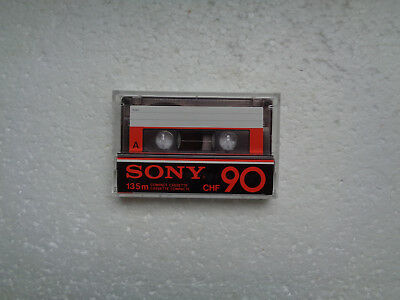 Vintage Audio Cassette SONY CHF 90 From 1978 - Fantastic Condition !!