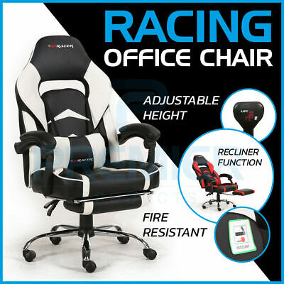 Gpracer Swivel Pu Leather Racing Office Chair Reclining Lumbar Support Computer