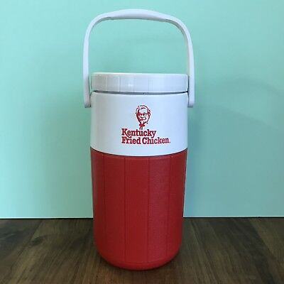 Vintage KFC KENTUCKY FRIED CHICKEN Collectors Drink Flask Cooler RETRO 1980s