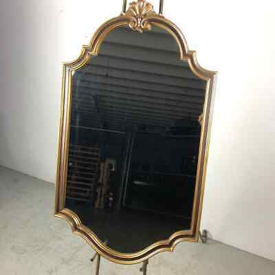 Baroque Gold Gilt French Provincial Hollywood Regency Style Scallop Wall Mirror