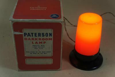 Vintage boxed Paterson dark room safelight lamp in working order