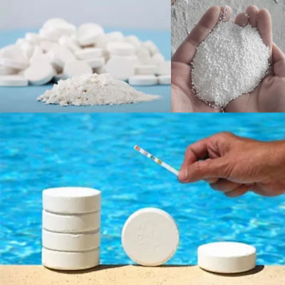 10Pcs 20g Multifunction CHLORINE TABLETS 5 IN 1 SWIMMING POOL HOT TUB SPA