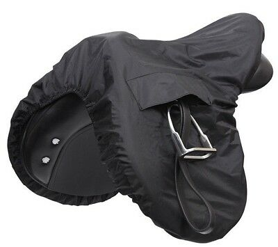 Shires Waterproof Ride-On Saddle Cover - Black - Protect your Tack & Jodhpurs!