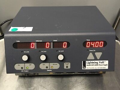 Owl Scientific Lightning Volt OSP-4000L Electrophoresis Power Supply Used Tested