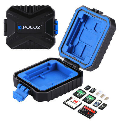 PULUZ 11 in 1 Waterproof Memory /SD Card Case Storage Box GWDE