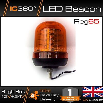 IC360 R65 Approved High Power Ultrabrite LED Single Bolt Beacon 12v 24v