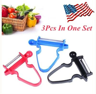 NEW 2018 Professional Magic Trio Peeler Vegetable Fruit Julienne (Set of 3) USA