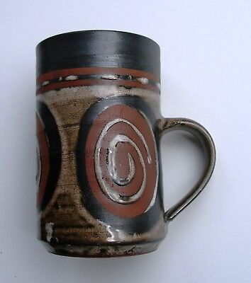 Briglin  Pottery - Tall Mug With Swirl Pattern