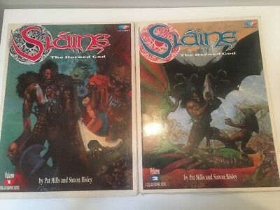 Slaine The Horned God Volumes 1 & 2 Graphic Novel by Pat Mills Simon Bisley